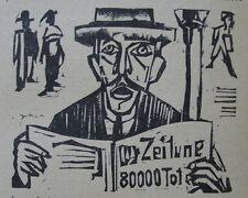 E. L. Kirchner O. Holzschnitt Neben der Heerstraße 1923