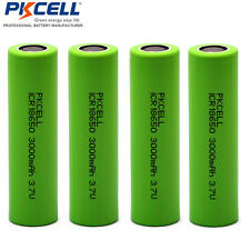 4PCS 3000mAh 3.7V Lithium ICR 18650 Rechargeable Battery Li-Ion PKCELL
