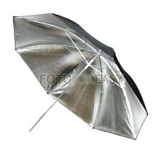 "33"" Studio Flash Light Reflector Black Silver Umbrella"
