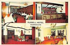 POSTCARD  YORKSHIRE   HARROGATE    RUSSELL  HOTEL  (  Interior  Views )
