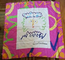 Picasso Painting Face Print Artist Art Square Colorful Scarf 100% Silk