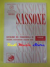 book libro CATALOGO DEI FRANCOBOLLI 1982 41 EDIZIONE SASSONE svizzera (L36)