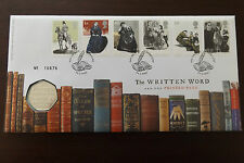 GB QEII FDC PNC COIN COVER 2005 THE WRITTEN WORD CHARLOTTE BRONTE 50P B/UNC