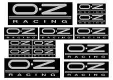 OZ racing decal set 13 Silver on Black printed and laminated stickers