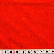BALI BATIK - BASIC ORANGE - ABS026 -QUILTING AND PATCHWORK FABRIC by the ½ metre