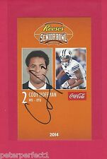 CODY HOFFMAN 2014 SENIOR BOWL AUTO BYU COUGARS BRIGHAM YOUNG SIGNED REDSKINS C