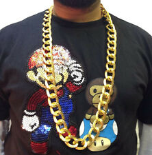 HIP HOP CHAIN NECKLACE • 50cm • GOLD STYLE • COSTUME #196