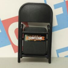 WWE Wrestling Mattel Black Chair Accessory for action figures Wrestlemania 26