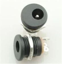 10Pcs Dc Power Jack Socket Dc-022 2.1 X 5.5 Mm With Screw Nut Ic New T