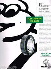 Publicité Advertising 1996 Les Pneus Michelin Energy