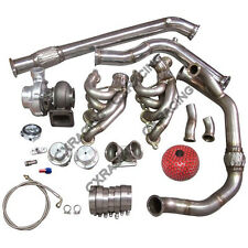 T76 Single Turbo Manifold Downpipe For 240SX S13 S14 LS1 LSx Engine Swap