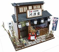 Billy Handmade Dollhouse Kit Japanese Retro store Eel Restaurant Figure Japan、