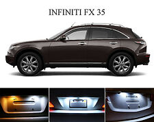 Xenon White License Plate / Tag 168 194 LED light bulbs for Infiniti FX35 2Pcs