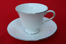WEDGWOOD R4452 SILVER ERMINE CONTOUR SHAPE CUP & SAUCER SET 5 AVAIL
