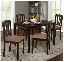 Dining Set 5-Piece Breakfast Furniture Wood  4 Chairs and Table Kitchen Dinette