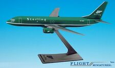 "Sterling ""Green"" 737-800 Airplane Miniature Model Plastic Snap-Fit 1:200 Part# A"