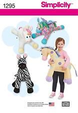 SIMPLICITY SEWING PATTERN Stuffed TOYS Zebra, Unicorn, Pegasus & Giraffe 1295 A