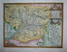 1603 Ortelius Map ANJOU France Angers & Loire Environs Decorative & Detailed!