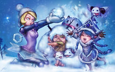 Poster A3 League Of Legends Orianna Lulú Invernales Poro LOL