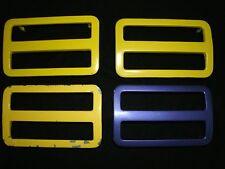 1971 Dodge Charger / Super Bee side marker light bezels, complete set (4), Mopar