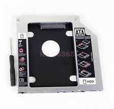 9.5mm Aluminum SATA 2nd HDD Hard Disk Drive Caddy for HP Compaq Dell MacBook pro