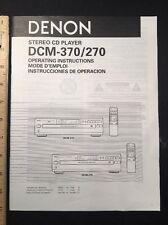 Denon Dcm-370 / 270 Cd Player Original Owners Manual Multi-Language dcm270 A16