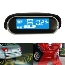 8 Silver Parking Sensor LCD Display Car Reverse Rear View Radar Alarm Kit