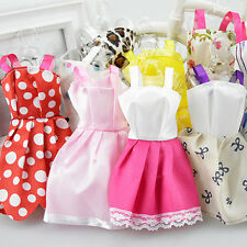 US 10 Pcs Handmade Dress Wedding Party Mini Gown Fashion Clothes For Barbie Doll