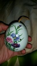 "Vtg retr dry flowers diffuser floral 3""H egg shape   just put your favor smell"