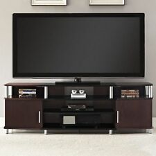 Media TV Stand Entertainment Center Flat Screen TVs Wood Console Table Furniture