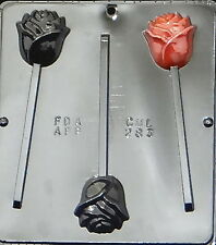 Rose Lollipop Chocolate Candy Mold  283 NEW