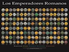 Los Emperadores Romanos - Coin Wall Poster - The Roman Emperors Spanish Version