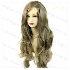 Wiwigs Fabulous Ash Blonde Long Wavy Layered Skin Top Ladies Wig