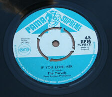 "the marvels   what a hurricane  1972 uk pama supreme promo copy 7"" ps 348"