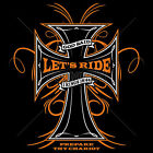 Religious Christian Biker T Shirts God Said Lets Ride Jesus Small to 6XL Tall