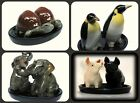 salt and pepper shakers, ANIMALS various designs on a dish , ceramics A quality