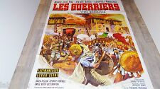 LES GUERRIERS   ! affiche cinema 1967 mascii , vikings , romains
