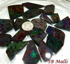 1,400+ CTS., 18 PC. SELECT HONDURAN BLACK MATRIX OPAL RUBS ROUGH FROM HONDURAS L