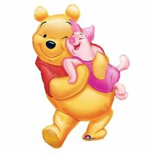 Giant 81cm Winnie the Pooh Piglet Hug SuperShape Foil Balloons Birthday Party BN