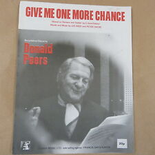 song sheet GIVE ME ONE MORE CHANCE, Donald Peers, 1972