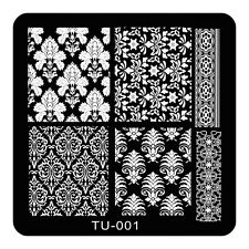 HOT Manicure TU Nail Stamping Plate Stainless Steel Nail Art Stamp Template T-01