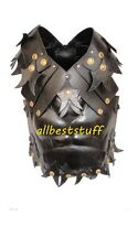 Body Muscle Armor Chestplate Armor Leather Body Armor Black