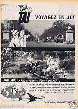 Publicité Advertising 106 1961 TAI voyagez en jet par Bellus