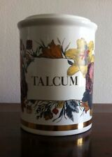 "Old Fornasetti ""Talcum"" jar vase 9"".5 tall"