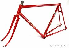 VINTAGE Race bike Frame Made in Italy Pezzoli lugged Steel Campagnolo