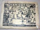 VTG 1939 PAINE UNCUT, COMPLETE PAPER MODEL kit INDIAN VILLAGE N ORIG ENVELOPE