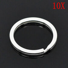 10*25mm Stainless Steel Hoop Split Key Ring Chain Loop Keyrings Connectors