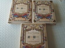 1981 Royal Wedding Lady Diana Stamp Albums x3 - Gutters Mint Booklets S/S - Huge