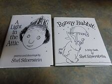 Lot Of 2 Shel Silverstein Book Light In The Attic & Runny Babbit