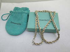 Tiffany & Co. 18K Gold & Sterling Silver Twisted Rope Necklace 24""